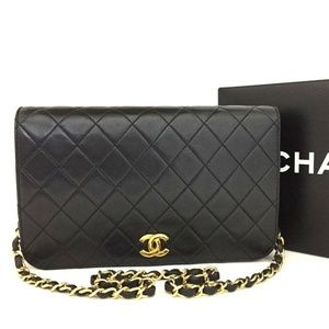 100% Auth CHANEL Matelasse Flap CC Push Lock